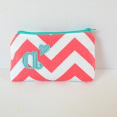 Coral & Aqua Mint Personalized Gift Bag with Heart