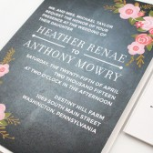 Rustic Chalkboard Wedding Invitation