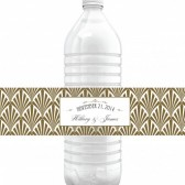 Hillary – Art Deco Water Bottle Labels