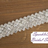 Holly Bridal Sash - SparkleSM Bridal Sashes