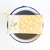 Honey Yellow Monogram Clutch