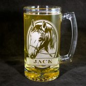Personalized Horse beer mug