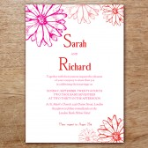 Hot Daisy Printable Wedding Invitation