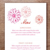 Hot Daisy Printable Wedding Menu