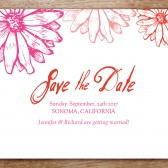 Hot Daisy Printable Save The Date