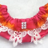 Hot Pink & Orange Keepsake garter