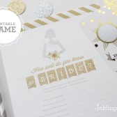 How Well Do You Know the Bride Printable Shower Game in Gold Glitter