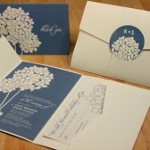 Hydrangea Blooms Wedding Invitation
