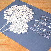 Hydrangea Blooms Save the Date Card