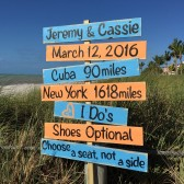 Beach Directional Wedding Sign