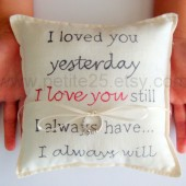 I Love You Ring Bearer Pillow Wedding Ceremony