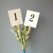 Rustic Table number holders