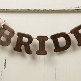 Bride and Groom Chair Garland