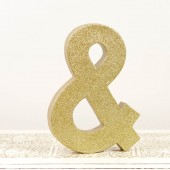 Gold Glittered Ampersand