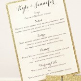 Gold Glittered Menu
