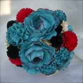 Rock & Roll Inspired handmade paper flower bouquet