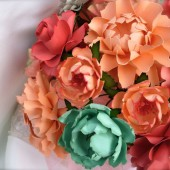 Peach & Mint - Paper Bouquet