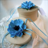 Anemone paper flower favoe box embellishments