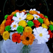 Paper Bouquet - Orange & Yellow