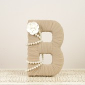 Mocha Tulle Wrapped Letter B