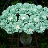 Mint and Cream Paper Flowers