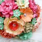 Paper Bouquet - Peach & Cream