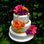 Paper Flower Cake Topper - centerpieces