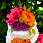 Cake Topper Paper Flowers
