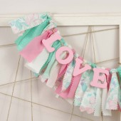 Pink and Mint Green Love Banner