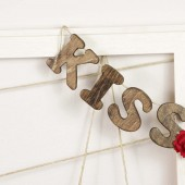 KISS banner garland with red flower