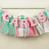 Pink and Mint Green CARDS banner