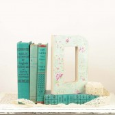 Mint and Pink Letter D cake topper, table decor