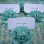 place card holders - paper flowers