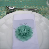 paper flower place card holders