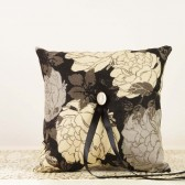 Ring Bearer Pillow in Black, Ivory and Champagne