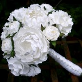 All White Paper Bouquet