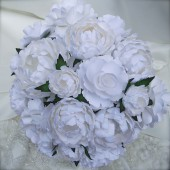 White paper flower bouquet