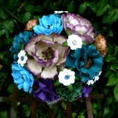 peacock paper bouquet
