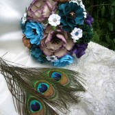 peacock Inspired Paper Bouquet
