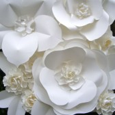 Large Paper Flowers Backdrop