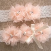 Peaches and Cream Garter set