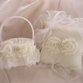 Flower Girl Basket and Pillow Set