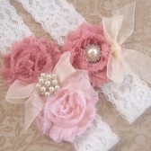Dusty Rose Garter Set