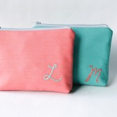 Personalized Cosmetic Bags, Monogram