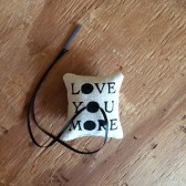 Love You More ring-bearer pillow