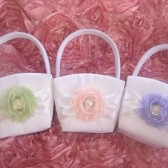 Custom Color Flower Girl Basket