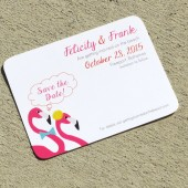 Flamingo Custom Save the Date