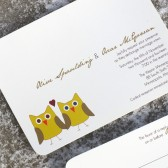 Modern Owl Wedding Invitation