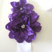Deep Purple Dahlia sash