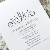 Bicycle Love Wedding Invitation